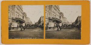 La-Canebiere-Marsiglia-Francia-Foto-Stereo-P28T4n38-Vintage-Analogica-c1900