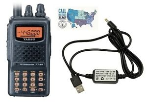 Details about Yaesu FT-60R Dual Band 5W FM HT Radio with Yaesu Compatible  USB Charging Cable