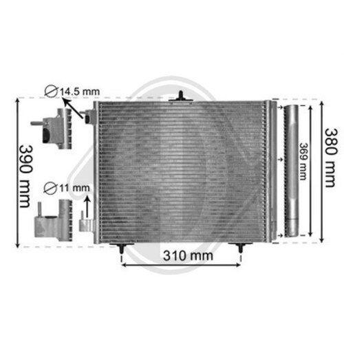 Diederichs Condenseur climatisation CITROËN PEUGEOT dcc1755