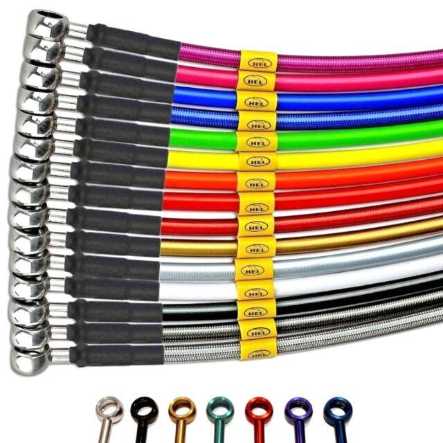 SUZUKI RG500 G-CH 85-89 CLASSIC BLACK BRAIDED REAR BRAKE LINE