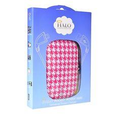 Halo Pocket Power 6000mAh Power Bank w/USB to Micro USB (Pink Houndstooth) NIB