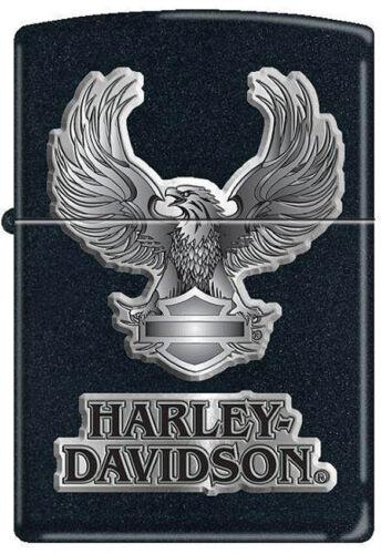 Zippo Briquet Harley Davidson Logo Aigle Noir Coupe-vent USA 12845