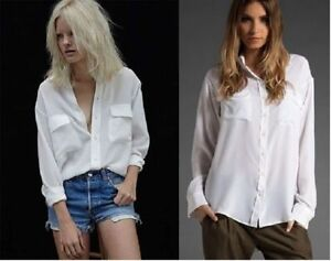 7da6434e66303c Image is loading 230-Equipment-Slim-Signature-Silk-Shirt-Bright-White