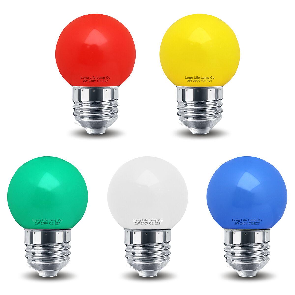 2w led mini golf ball light bulb e27 colour golfball red blue green yellow white ebay. Black Bedroom Furniture Sets. Home Design Ideas