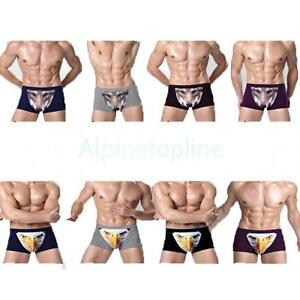 8d104acd6717af Image is loading Novelty-3D-Printed-Mens-Boxer-Briefs-Trunks-Underwear-