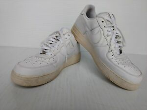 size 40 a0ab5 0e9b2 Image is loading Nike-Air-Force-AF1-82-Mens-White-Sneakers-
