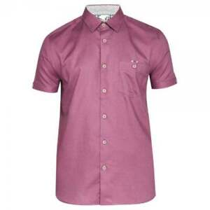 053b8472f0c53e Image is loading Ted-Baker-Mowntay-SS-Waffle-Weave-Shirt-Deep-