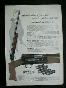 VTG-1960-Orig-Magazine-Ad-Browning-Automatic-5-Rifle-MEAT-GUN-Hunting