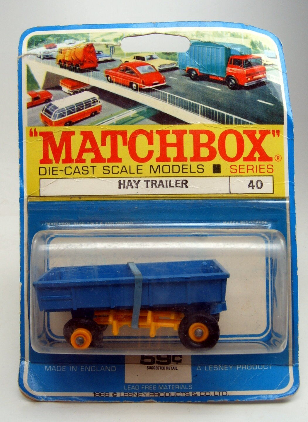 Matchbox RW 40c hay tráiler canadische blister