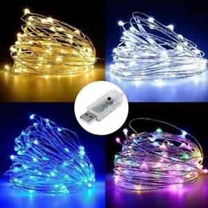 50-100LED-USB-Operated-Mini-Copper-Wire-String-Fairy-Lights-Lamp-Xmas-Party-Home
