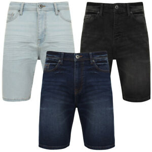Tokyo-Laundry-Mens-Stretch-Denim-Shorts-Chino-Jean-Vintage-Dark-Light-Wash-Slim