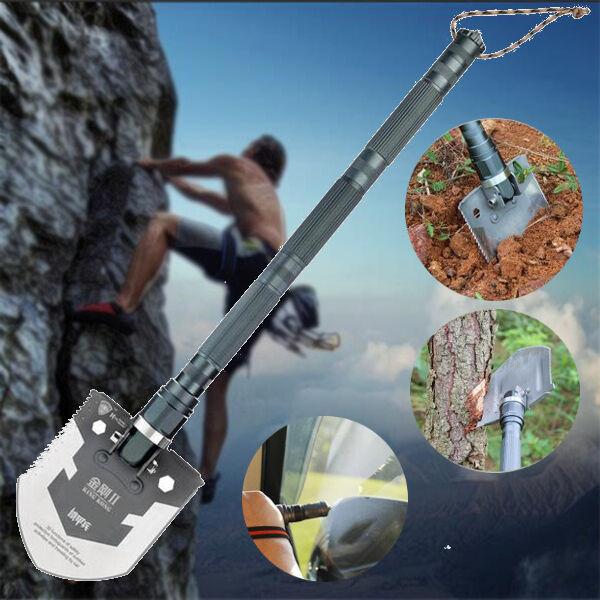IPRee Updated Version Outdoor Multifunctional Shovel Camping Adventure Emergency