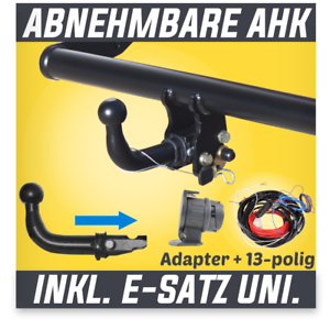 Fuer-Dacia-Duster-II-2WD-4WD-ab-17-Anhaengerkupplung-abnehmbar-ES-13p-uni