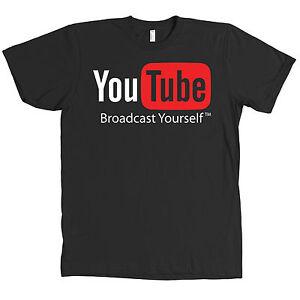 Youtube-Bella-Canvas-Logo-Black-T-Shirt-Internet-Video-ALL-SIZES-amp-NEW