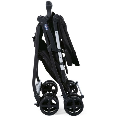 Chicco Ohlala 2 Stroller Black Night Lightweight with Rain Cover