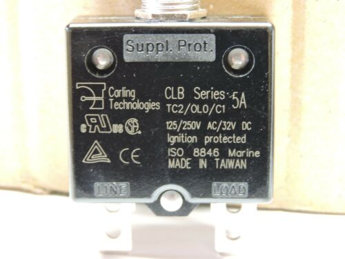 Carling Marine CLB 5A Circuit Breaker Push to Reset 5 AMP 125//250V Boat Yacht