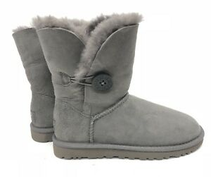 c8295fa433a Details about Ugg Australia Bailey Button Classic Short Grey Gray 5803  Women's sheepskin Boots