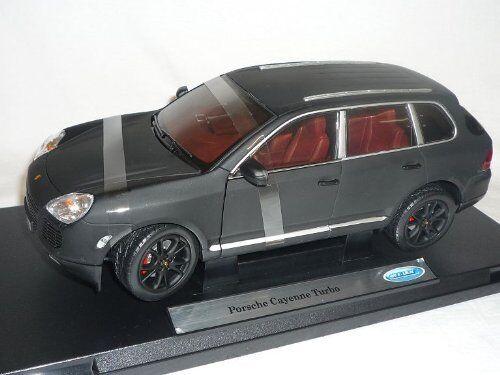 1 18 Welly-Porsche Cayenne Turbo Mat Noir-Modèle Spécial