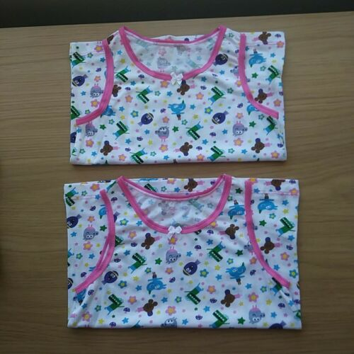 Hey Duggee 2-3 year Girls 2 pack Character Vests 100/% Cotton ex store FREE p/&p.
