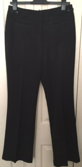 cheaper the cheapest online for sale Wallis Women Black Tailored Bootcut Trousers Uk12 W32 L33 for sale ...