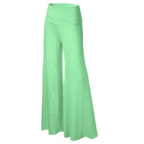 Women/'s High Waist OL Office Stretch Wide Leg Long Pants Palazzo Trousers 34
