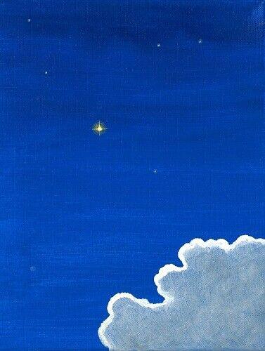 1.5x2 DOLLHOUSE MINIATURE PRINT OF PAINTING RYTA 1:12 SCALE ASTRONOMY HEAVENS