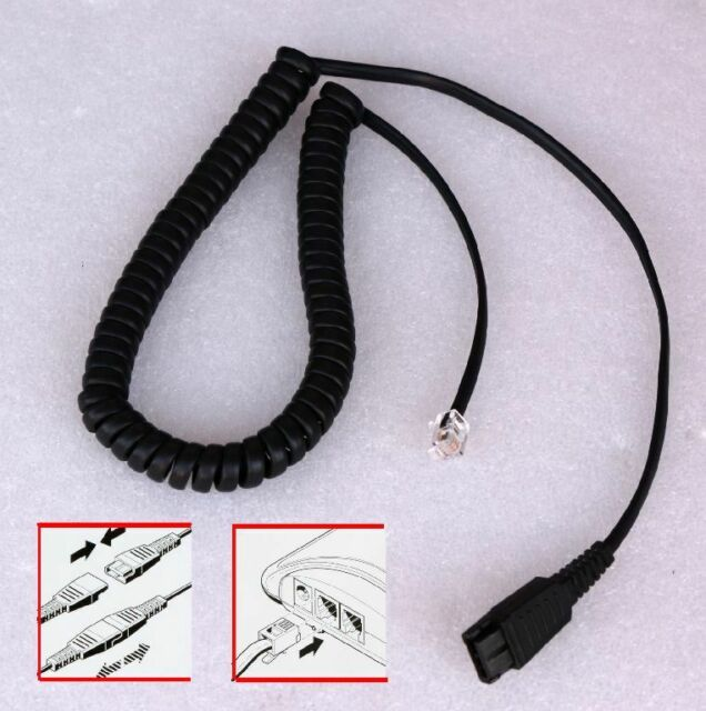 TELEFON HEADSET KABEL CABLE IMTRADEX AK-1 PS DEX-QD CALLCENTER 08765282 0011AC