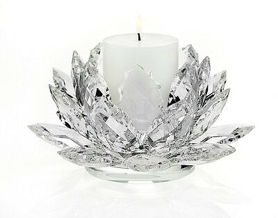 CRYSTAL LOTUS PILLAR CANDLE HOLDER