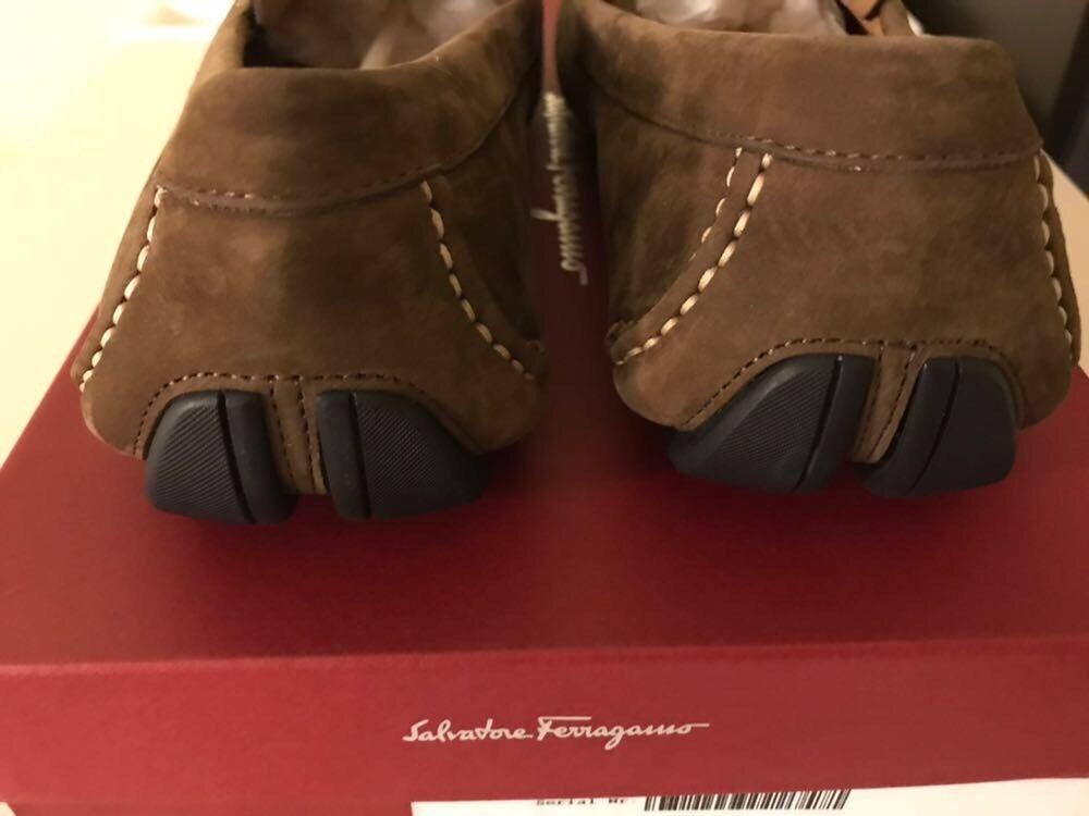 0cdb88e744d7 ... New Auth. Salvatore Ferragamo Ferragamo Ferragamo Clip Men Suede Tan  Moccasin Loafers Logo 8  695 ...