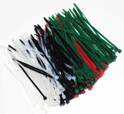 ***** 85 STÜCK Kabelbinder in 4Farben Kabelbänder Binder 3,6x150mm