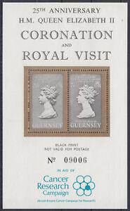 Schwarzdruck-Guernsey-25th-Anniversary-H-M-Queen-Elizabeth-II-Black-Print