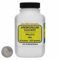 Ammonium Sulfate [(nh4)2so4] 99% Acs Grade Powder 8 Oz In A Bottle Usa