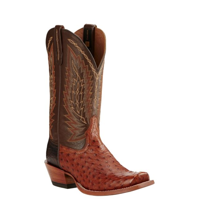 Ariat® Men's Super Stakes Brandy Full Quill Ostrich Boots 10018712