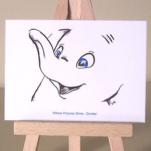 Art-Deco-Baby-Dumbo-Where-Pictures-Shine-WDCC-drawing-ACEO-card