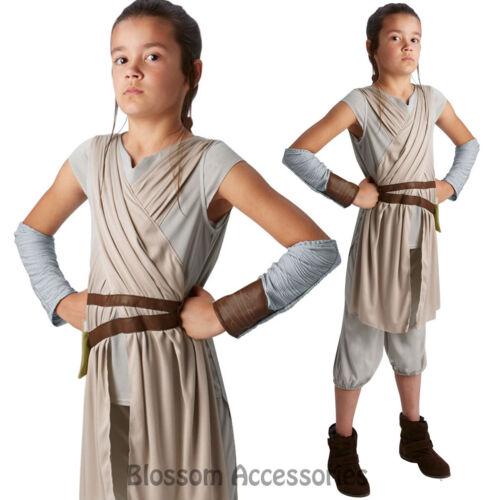 CK593 Deluxe Star Wars Episode 7 Rey Force Awakens Tween Fancy Girls Costume