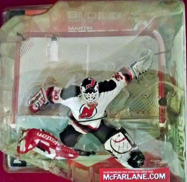 a4c71ce1d 2001 McFarlane Hockey NHL Series 1 Martin Brodeur White Bottle  20 Action  Figure