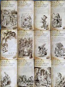 Lots-20-pcs-Bulk-Alice-039-s-Adventures-in-Wonderland-Postcard-Book-Illustration
