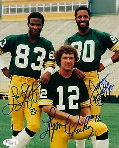 PACKERS-Lynn-Dickey-James-Lofton-John-Jefferson-signed-photo-8x10-AUTO-JSA-COA