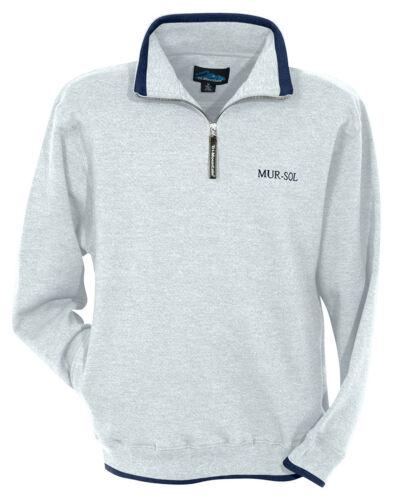 682 Tri-Mountain Men/'s Contrasting Edges 1//4 Zip Fleece Pullover Sweatshirt
