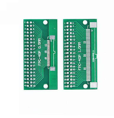 5pcs FFC/FPC 40 Pin 1mm 0.5mm to DIP Adapter PCB Board Converter Double Side NEW