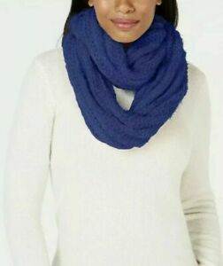 INC-Navy-Blue-Chenille-Textured-Loop-Fashion-Soft-Infinity-Scarf-O-S-New