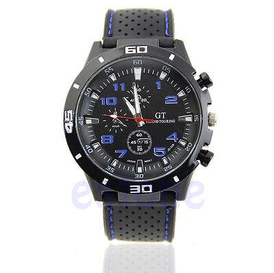 Stylish Mens Racer Military Pilot Aviator Army Sport Analog Quartz Wrist Watch