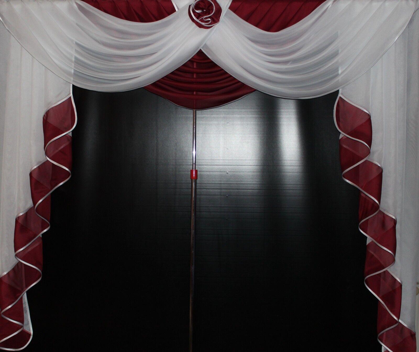 Deko - - - Gardine, Store, Vorhang in der Farbe  bordeaux   weiss | Deutschland Berlin  52eee3