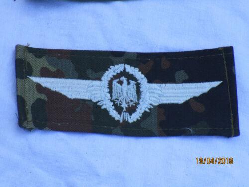 45x115mm Bw Abzeichen   Militär Luftfahrzeug Führer silber auf flecktarn