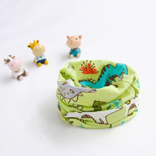 Winter Kid Girl Boy Scarf Animal Pattern Stitching O-ring Baby Scarf Neck Warmer