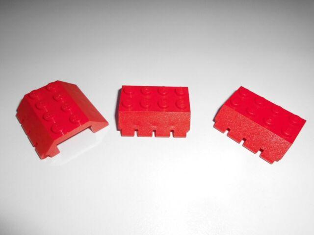 Lego Doppelschrägstein 45° 4x4x1 Scharnier Gelenk 4857 weiß