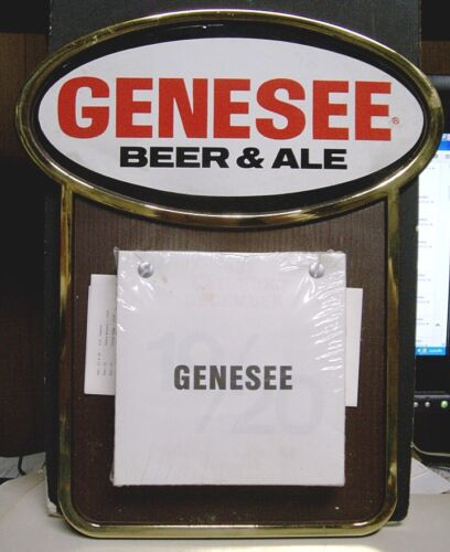 1988 Genesee Beer & Ale Sports Calendar Sign Rochester, NY