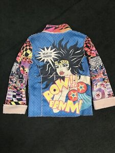 Wonder Art Jacket Makali Vintage Women Alberto Pop Lined Sherpa Small dvqIWt