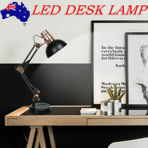 Metal Desk Lamps Adjustable Neck Architect Table Lamp Swing Arm Desk Lamp Au Ebay