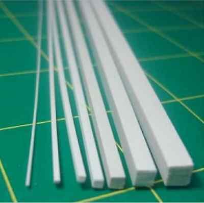 10 pcs ABS Styrene Plastic Square Bar Rods Width 3mmX250mm White #B32